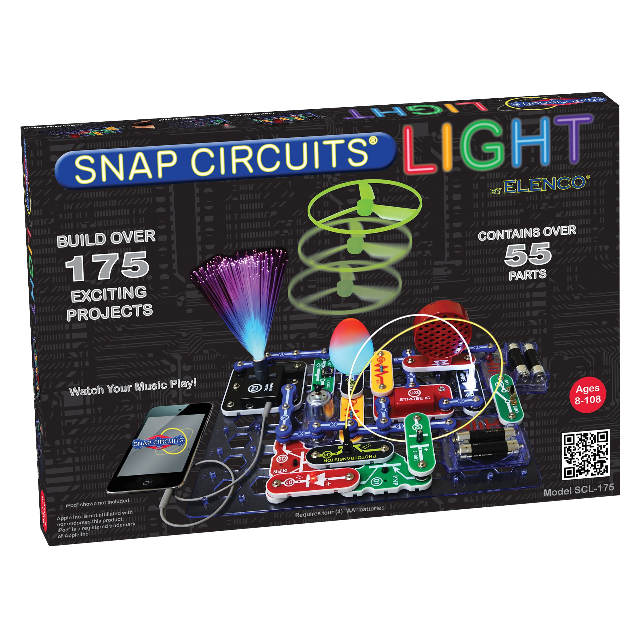 Free 2day Shipping Buy Elenco Snap Circuits Lights Kit Scl175 At New Fm Radio Scp12 Scl 175 Electronics Discovery Science Toy