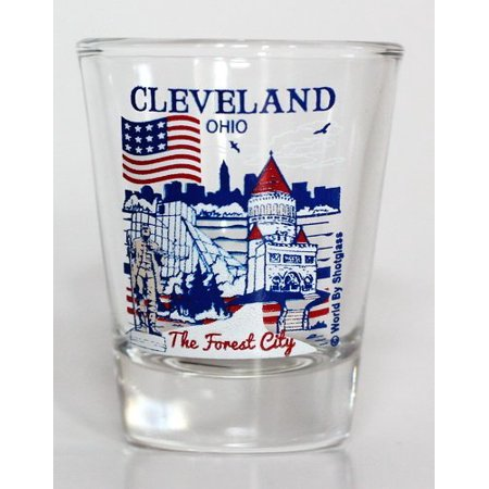 Cleveland Ohio Great American Cities Collection Shot Glass for $<!---->