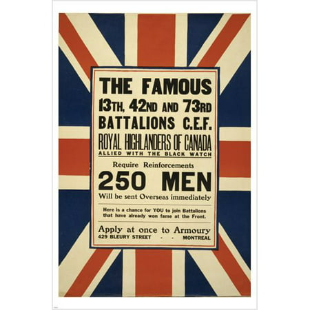 Recruiting Announcement Vintage Ad Poster Union Jack Collectors 24X36