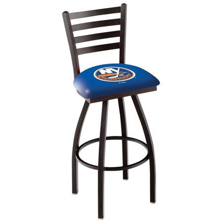 New York Islanders 30 Inch L014 Black Bar Stool With Back by