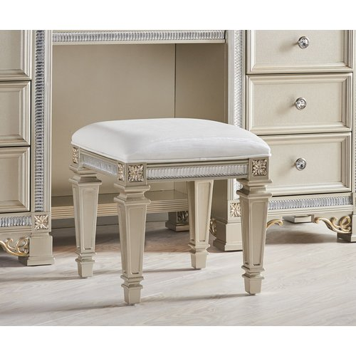 Fairfax Home Collections Tiffany Vanity Stool