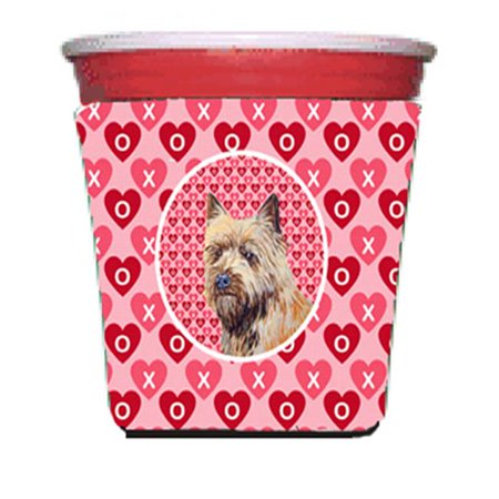 Cairn Terrier Valentines Love And Hearts Red Solo Cup  Hugger - 16 To 22 oz. - image 1 de 1