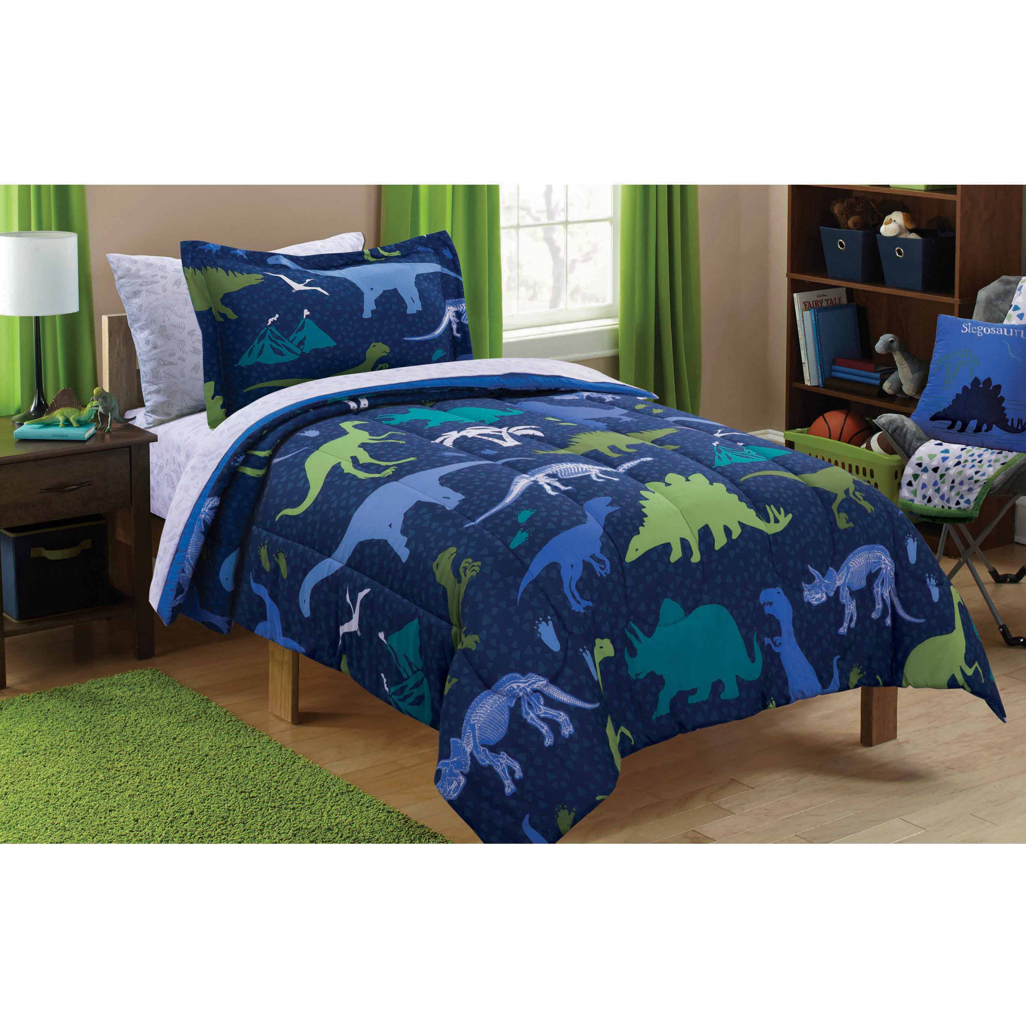 Full size childrens bedding sets - Mainstays Kids Dino Roam Bed In A Bag Bedding Set