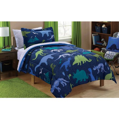 mainstays kids dino roam bed in a bag bedding set. Black Bedroom Furniture Sets. Home Design Ideas