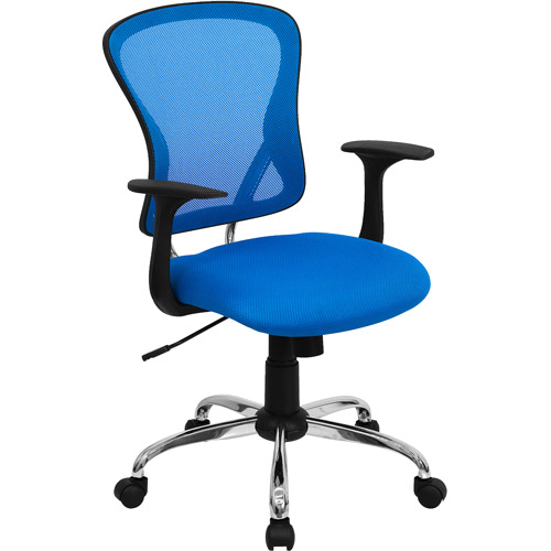flash furniture mesh desk chair with chrome base multiple colors