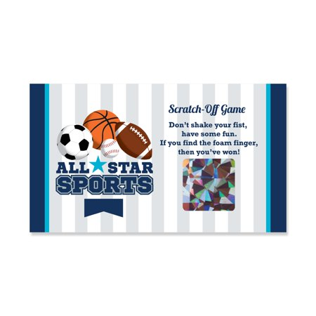 Go, Fight, Win - Sports - Baby Shower or Birthday Party Scratch Off Cards - 22 Count](Sports Birthday Party)