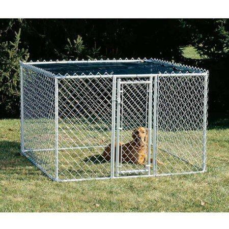 Midwest Chain Link Portable Kennel, Includes a