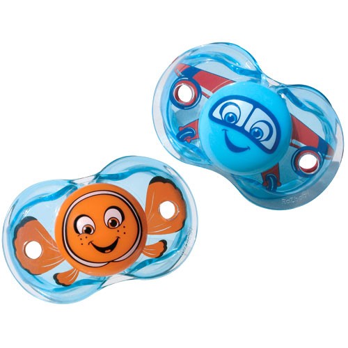 RazBaby - Keep-It-Kleen Pacifier Bundle, Fish/Airplane