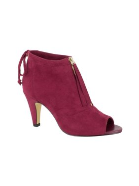 bella vita women's nicky ii ankle bootie, burgundy super suede, 7.5 2w us