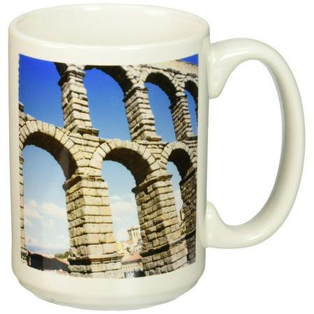 3Drose Aqueduct Of Segovia  Famous Roman Aqueduct Segovia  Spain  Ceramic Mug  15 Ounce