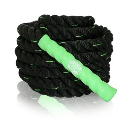 Battle Ropes - Fitness Slam Rope - Zero Impact Weight Loss - Crossfit - Combat Endurance Training - Core Training - NORISK Satisfaction - 40' x 1.5
