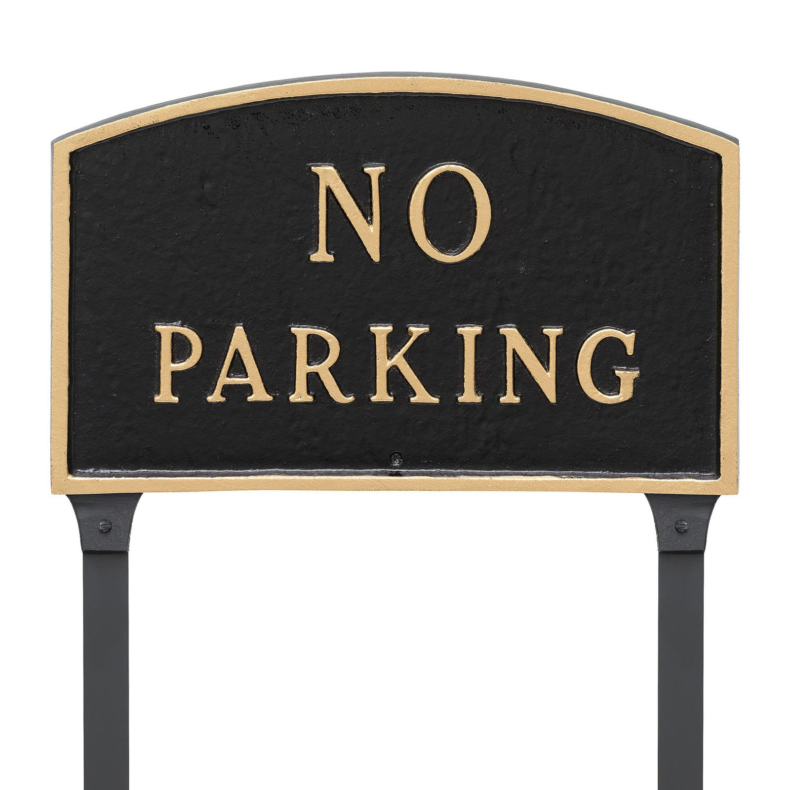 Montague Metal Products No Parking Arched Lawn Plaque