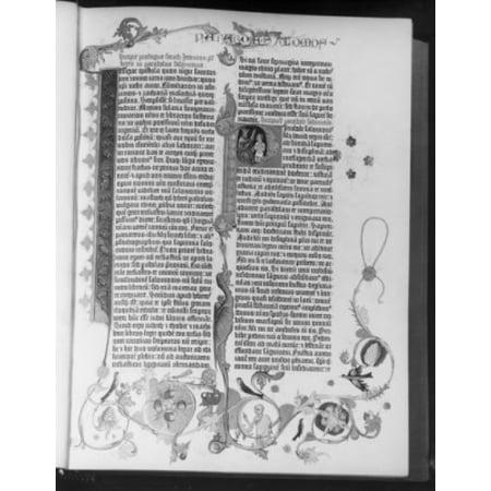 Gutenberg Bible Poster Print - Bible Posters