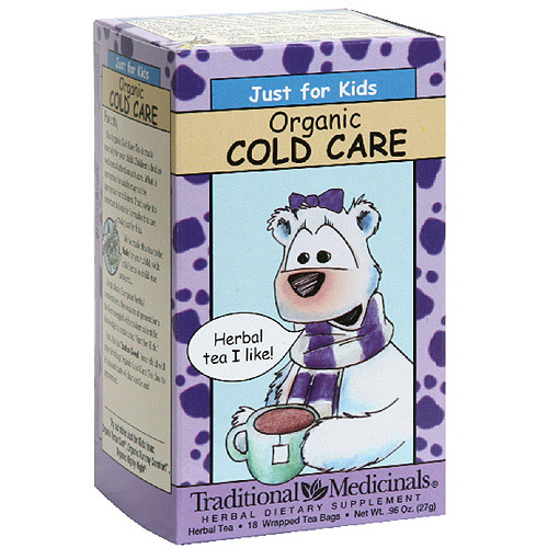 Traditional Medicinals Organic Cold Care Tea Just For Kids, 18ct  (Pack of 6)