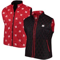 Nebraska Cornhuskers Women's Plus Size Reversible Full-Zip Puffer Vest - Scarlet/Black
