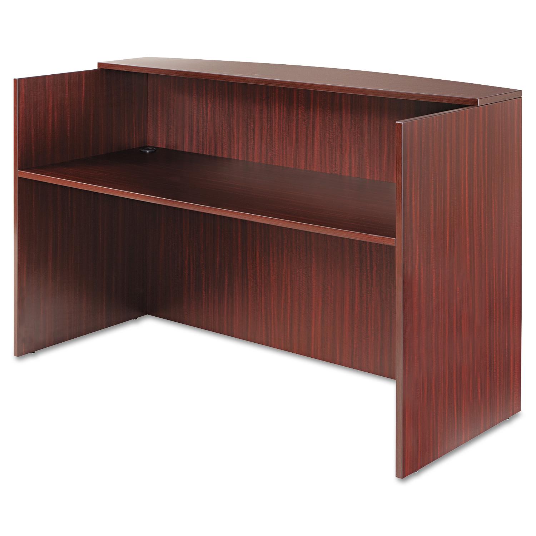 Alera Valencia Series Reception Desk w/Counter,71w x 35 1/2d x 42 1/2h, Mahogany