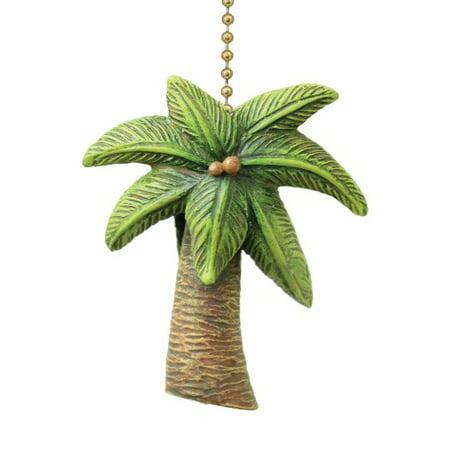 Coastal Island Palm Tree Ceiling Fan Pull Decorative Light