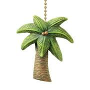 Coastal Island Palm Tree Ceiling Fan Pull Decorative Light Chain