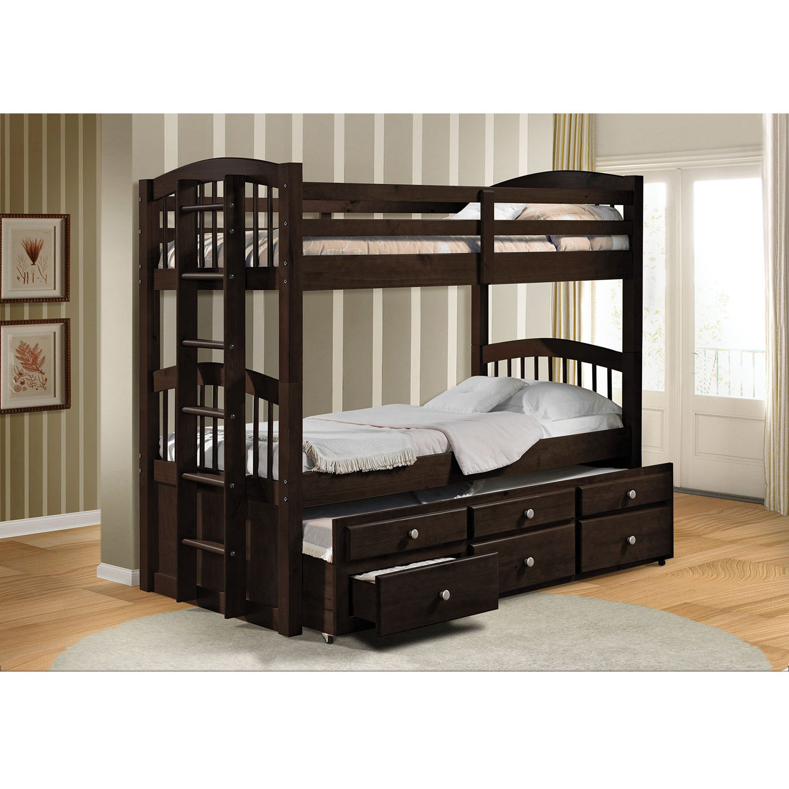 Acme Furniture Micah Twin Over Twin Bunk Bed by Acme Furniture