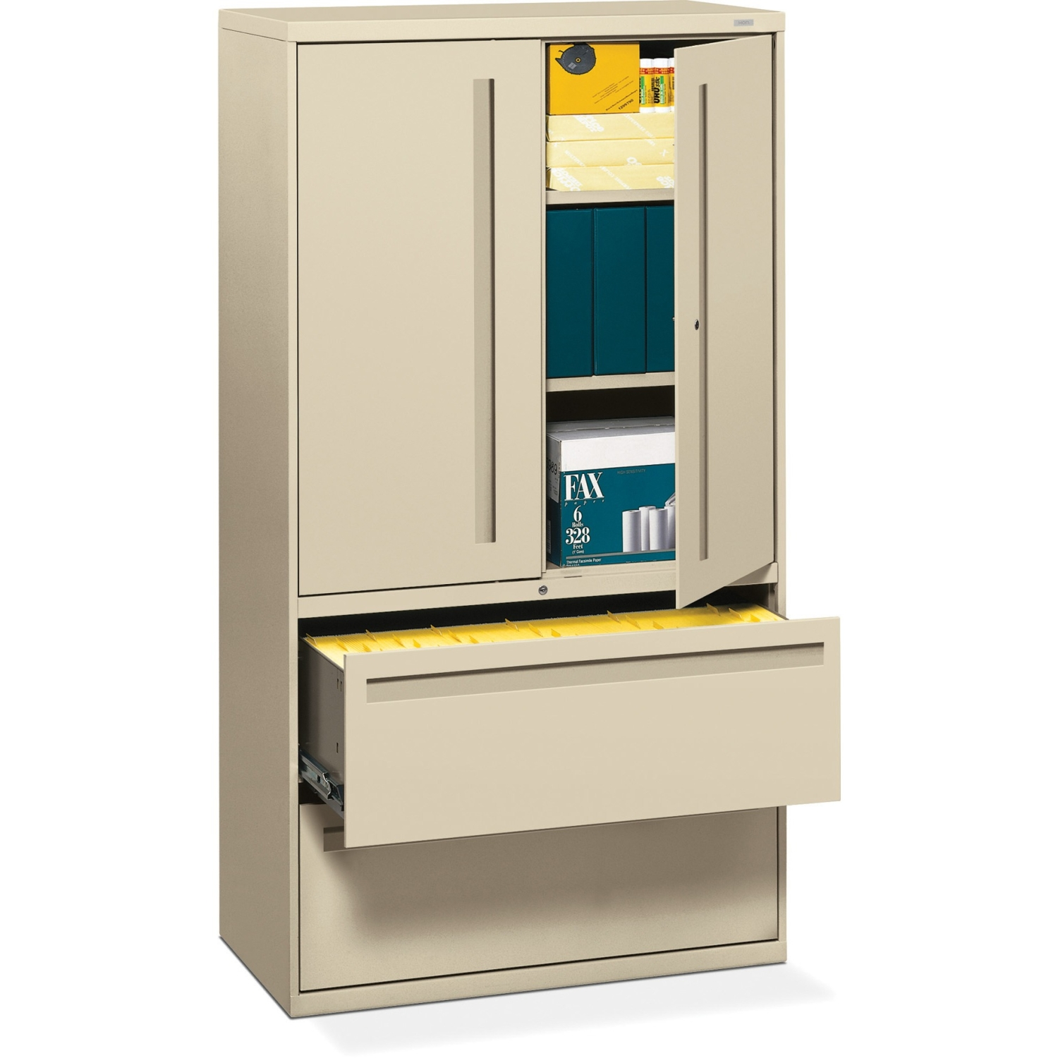HON 700 Series Lateral File w/Storage Cabinet, 36w x 19-1/4d ...