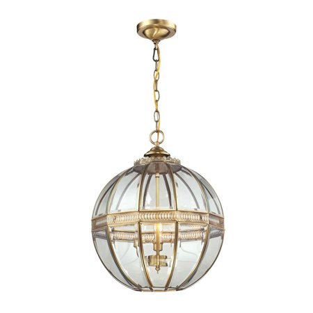 Elk Lighting Randolph 3 Light Pendant in Brushed Brass and Clear - image 2 of 2