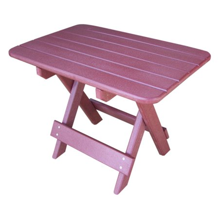 Phat Tommy Recycled Plastic Folding Patio Side Table
