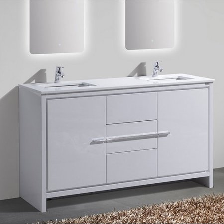 Kube bath dolce 60 39 39 double sink modern bathroom vanity - Walmart bathroom vanities with sink ...