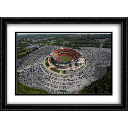 FedEx Field 2x Matted 38x28 Large Black Ornate Framed Art Print from the Stadium Series