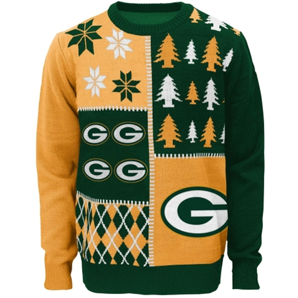 Green Bay Packers Youth Long Sleeve Ugly Sweater