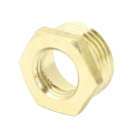 Unique Bargains 1/2BSP Male x 1/4BSP Female Thread Brass Hexagon Reducer Bushing Pipe Fitting