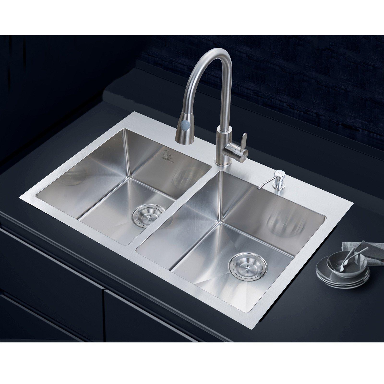 stufurhome nw 3322do double basin overmount kitchen sink walmart com rh walmart com  kitchen sinks overmount vs. undermount