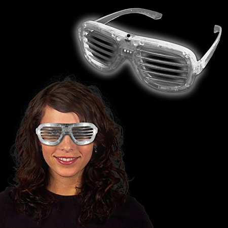 White LED and Light - Up Slotted Glasses, By Windy City Novelties