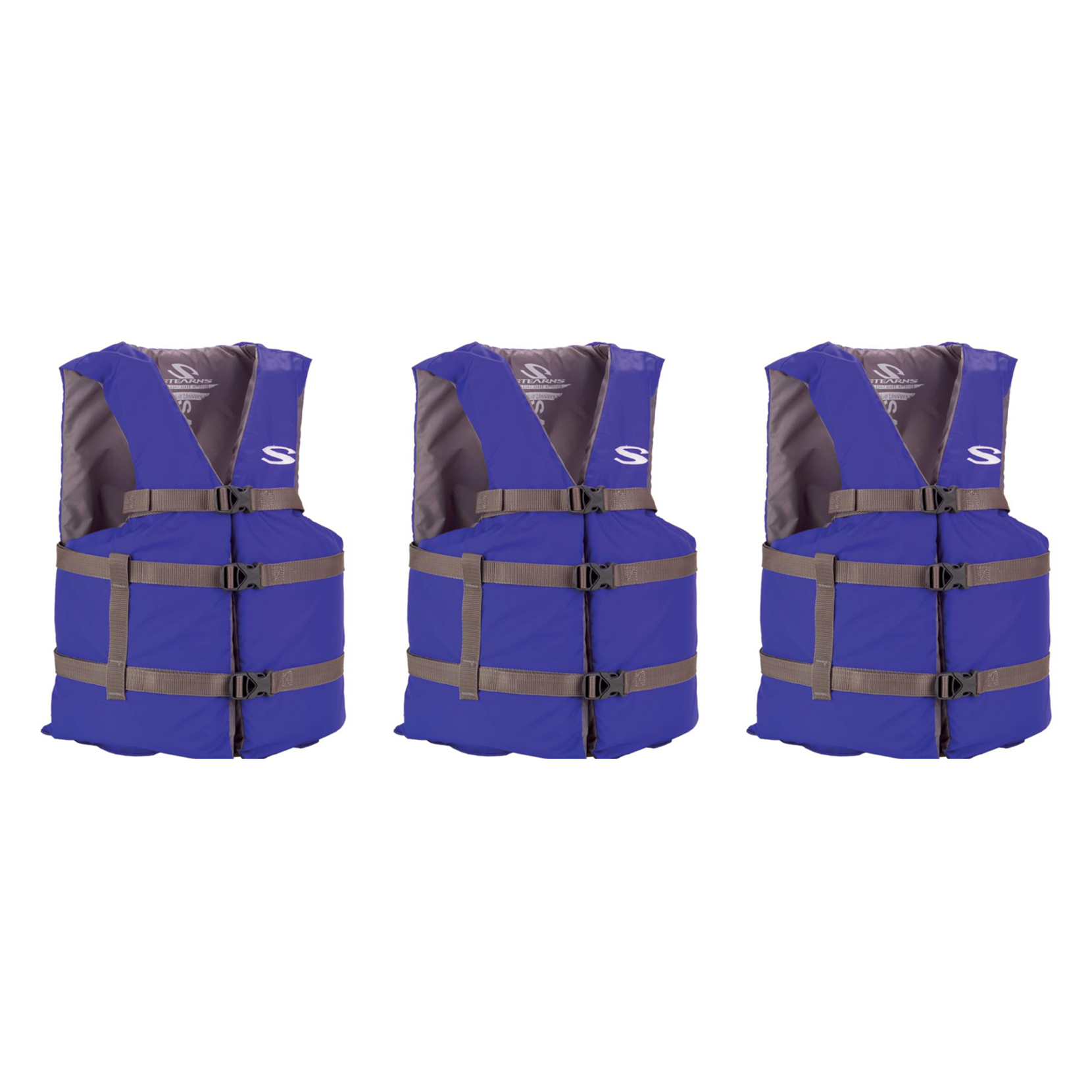 COLEMAN Stearns Adult Classic Universal Life Jacket Flotation Boating Vest BLUE