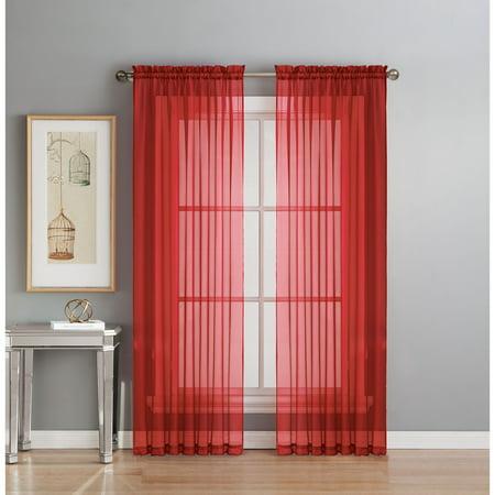 Diamond Sheer Voile Curtain Panels