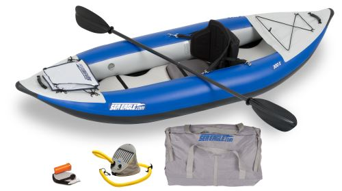 Sea Eagle 300X Explorer Inflatable Kayak Pro Carbon Package by Sea Eagle Boats, Inc.