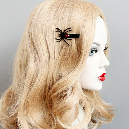 Halloween Pin Up Girl Photos (1 Pair Fashion Wings Spider Hairpins Halloween Hair Clips Girls Costume)