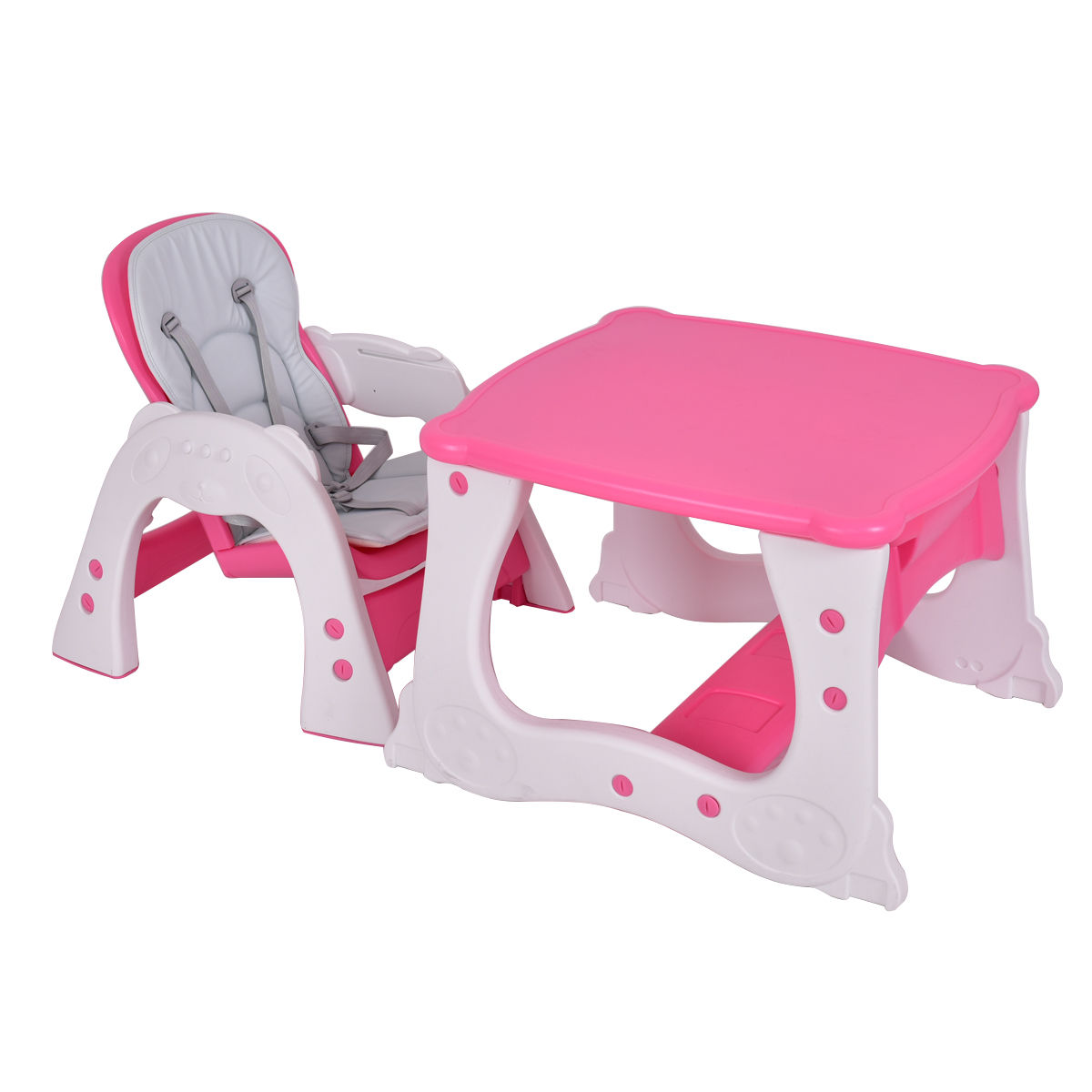 3 in 1 Baby High Chair Convertible Play Table Seat Booster Toddler Feeding Tray - image 9 de 10