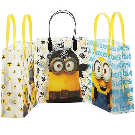 Despicable Me Minions 12 Authentic Licensed Party Favor Reusable Goodie Medium Gift Bags 8