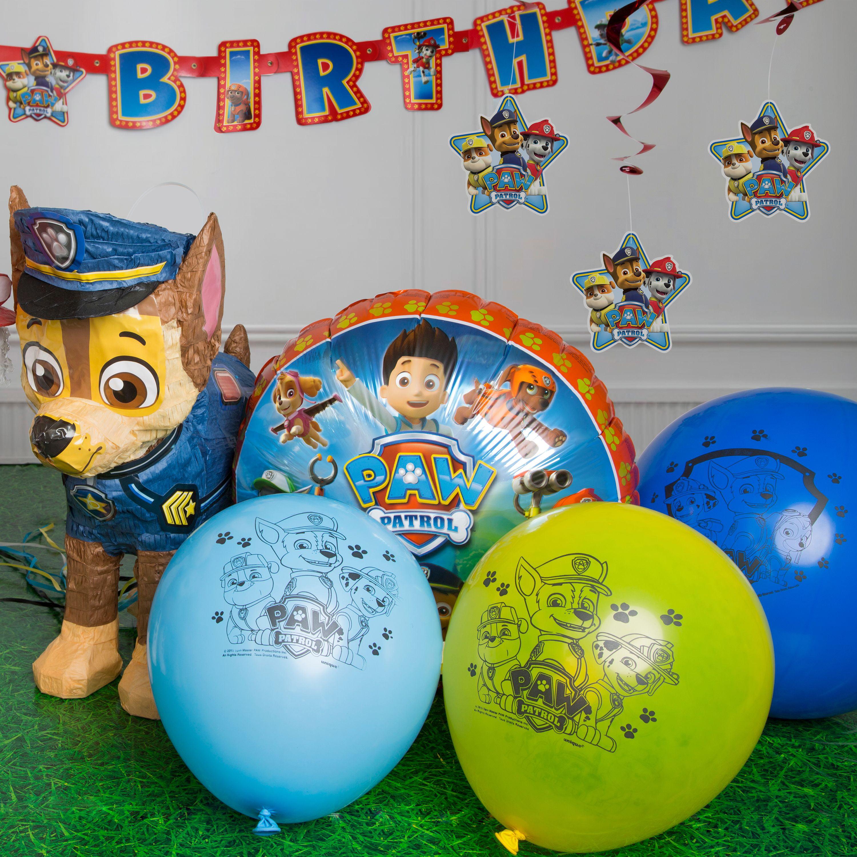 Rubble Pack Paw Patrol LATEX Nickelodeon Mylar Balloon Chase Marshall Balloons