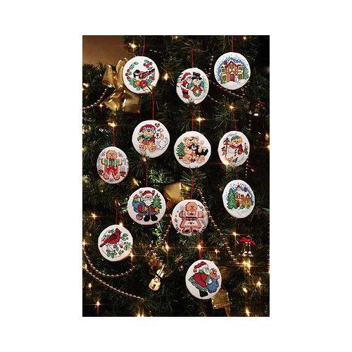 Janlynn Holiday Favorites Christmas Ornaments Cross Stitch (Set of 12)