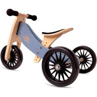 Kinderfeets Tiny Tot PLUS 2-in-1 Balance Bike and Tricycle, Slate Blue