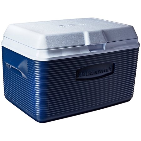 Ice Chest / Cooler, Blue, 34-quart (FG2A2002MODBL), Superior thermal retention keeps food and beverages cold. By - Cold Beverage