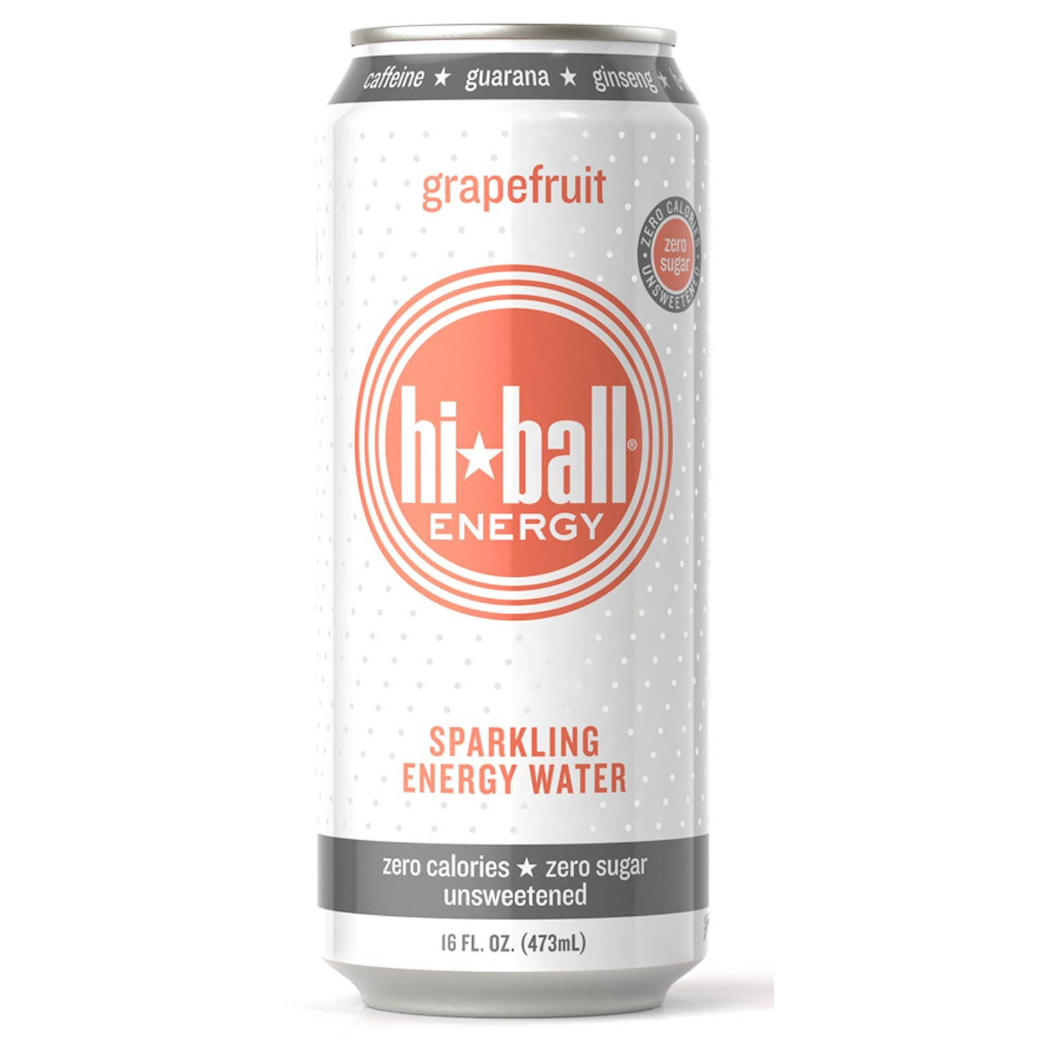 Hiball Energy Sparkling Energy Water, Grapefruit, 16 Fl Oz, 12 Count