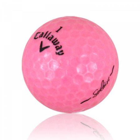 Callaway HEX Solaire Golf Balls, Pink, Refurbished, 12 Pack