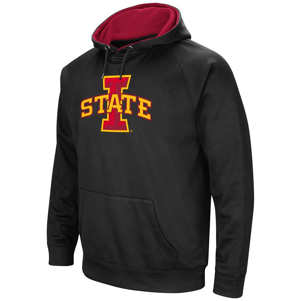 Mens Iowa State Cyclones Black Pull-over Hoodie by Colosseum