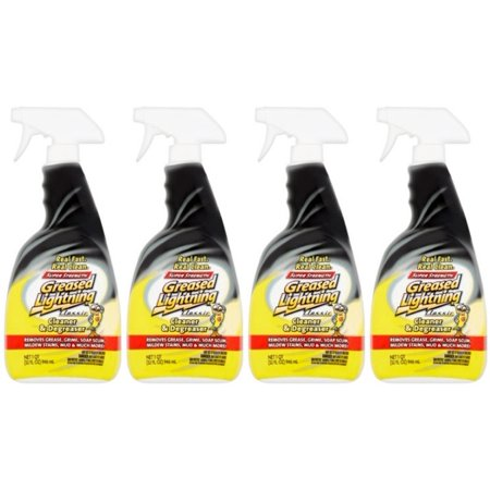 (4 Pack) Greased Lightning Super Strength Multi-Purpose Cleaner & Degreaser, 32 fl oz - Multi Purpose Degreaser
