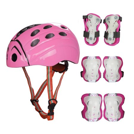 CoastaCloud Kids Skateboard Protection Set with Helmet, Knee and Elbow Pads with Wrist Guards for Multi-sports Outdoor Activities: Cycling, Rollerblading, Skating, Volleyball, Basketball, BMX