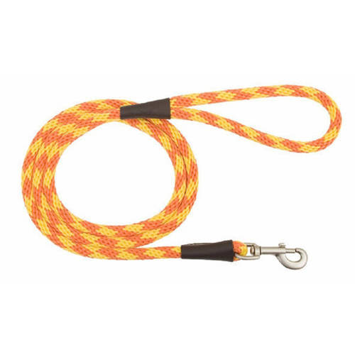 "014462, Small, Snap Leash, 3/8"" x 4', Amber"