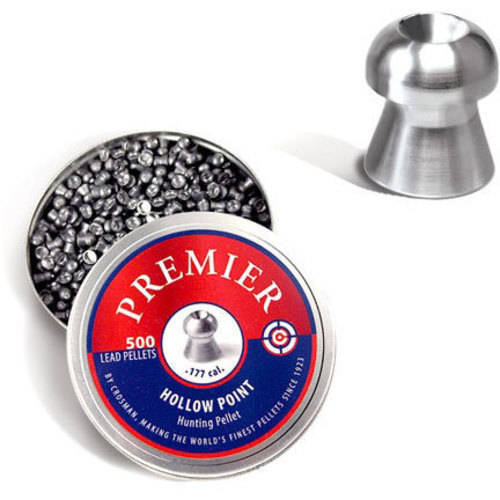 Crosman .177cal Hollow Point Pellets, 500 count