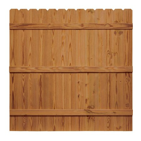6 ft. x 6 ft. Pressure-Treated Cedar-Tone Moulded Fence Kit